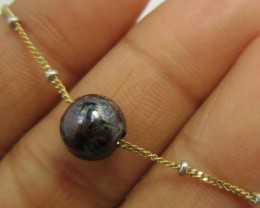 8 mm boulder opal on 18k italian chain    PL711