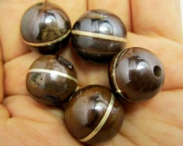 361 CTS  PARCEL  BOULDER  OPAL BEADS SILVER INLAY   MMM 887