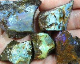 2.45 OZ 5 PCS BOULDER ROUGH-BLOCKED OUT OPAL MINIMAL WASTAGE