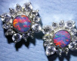 SPARKLING DOUBLET EARRING WITH C`Cs [SOJ3039]