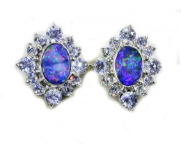 SPARKLING DOUBLET EARRING WITH C`Cs [SOJ3042]
