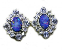SPARKLING DOUBLET EARRING WITH C`Cs [SOJ3043]