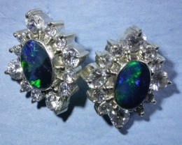 SPARKLING DOUBLET EARRING WITH C`Cs [SOJ3044]