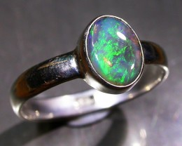 6 RING SIZE SOLID CRYSTAL OPAL -FACTORY DIRECT [SOJ3046]