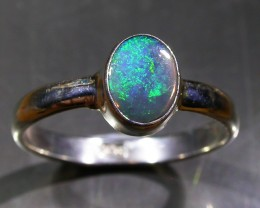 9 RING SIZE SOLID CRYSTAL OPAL -FACTORY DIRECT [SOJ3048]