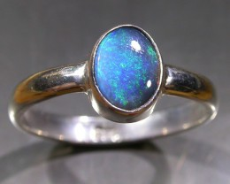 7 RING SIZE SOLID CRYSTAL OPAL -FACTORY DIRECT [SOJ3051]