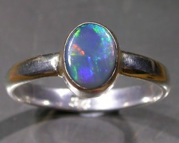 9 RING SIZE SOLID CRYSTAL OPAL -FACTORY DIRECT [SOJ3052]