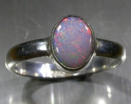 6.5 RING SIZE SOLID CRYSTAL OPAL -FACTORY DIRECT [SOJ3054]