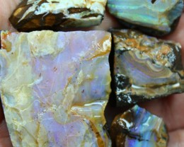 2.35 OZ 5 PCS BOULDER ROUGH-BLOCKED OUT OPAL MINIMAL WASTAGE