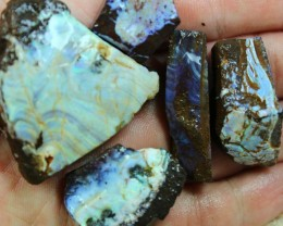 3.05 OZ 5 PCS BOULDER ROUGH-BLOCKED OUT OPAL MINIMAL WASTAGE