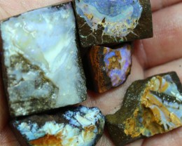 1.95 OZ 5 PCS BOULDER ROUGH-BLOCKED OUT OPAL MINIMAL WASTAGE