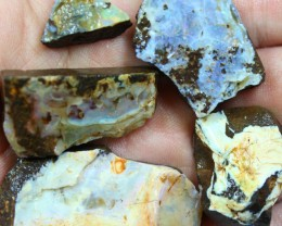 2.40 OZ 5 PCS BOULDER ROUGH-BLOCKED OUT OPAL MINIMAL WASTAGE