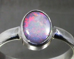 6 RING SIZE SOLID CRYSTAL OPAL -FACTORY DIRECT [SOJ3059]