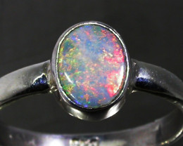 8 RING SIZE SOLID CRYSTAL OPAL -FACTORY DIRECT [SOJ3060]