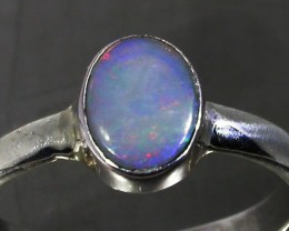 7.5 RING SIZE SOLID CRYSTAL OPAL -FACTORY DIRECT [SOJ3063]