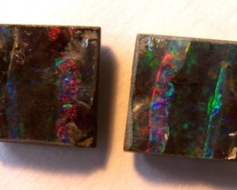 *reduced dramatically* BOULDER OPAL PAIR 13.60ct   p7-039cr