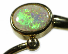 ADJUSTABLE HANDCRAFTED GOLD 18 K OPAL  RINGJEWELLERY   [ JD 1 ] BY SEDA OPA