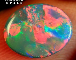 BRILLIANT FLAGSTONE SOLID SEMI BLACK OPAL 1.2ct $1NR