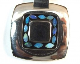 INLAY OPAL PENDANT STAINLESS STEEL 91.45  CTS   OF - 174
