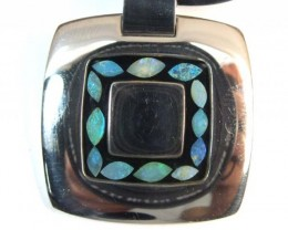 87  CTS INLAY OPAL PENDANT STAINLESS STEEL    OF - 178