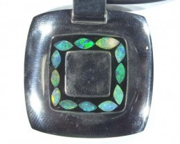 INLAY OPAL PENDANT STAINLESS STEEL 92.00  CTS   OF - 183