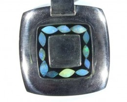 91.05 CTS INLAY OPAL PENDANT STAINLESS STEEL    OF - 184