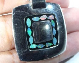 INLAY OPAL PENDANT STAINLESS STEEL 86.50  CTS   OF - 186
