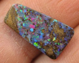 COLOURMINE OPALS>3.40.cts MULTI-COLOUR FLASHY BOULDER OPAL