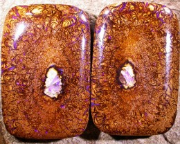 174.62 CTS 2 SIDED PAIR YOWAH STONES  [Q1039]