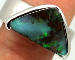 UNISEX MEN-LADIES RINGS SOLIDOPAL 44.80CTS SIZE-10.5  OF-227