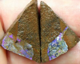 59.05 CTS BOULDER OPAL PAIRS ROUGH FOR CUTTING
