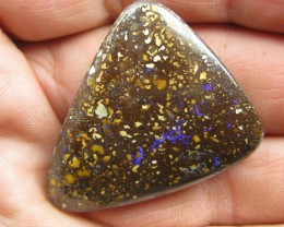 COLOURMINE OPALS>76.80cts DRILLED BOULDER MATRIX OPAL