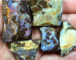 2.50 OZ 5 PCS BOULDER ROUGH-BLOCKED OUT OPAL MINIMAL WASTAGE