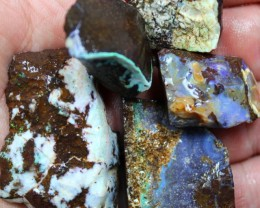 2.05 OZ 5 PCS BOULDER ROUGH-BLOCKED OUT OPAL MINIMAL WASTAGE