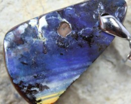48.85 CTS BOULDER OPAL PENDANT WITH BAIL READY TO WEAR C2598