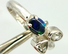 BLACK OPAL SUNSTONE RING 14.50  CTS SIZE-8.75  OF-268