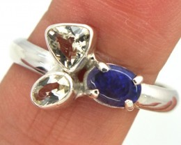 BLACK OPAL SUNSTONE RING  14.60 CTS SIZE- 9.00 OF-274