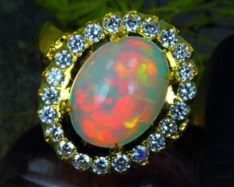6.38Gram SOLID 14K YELLOW GOLD NATURAL OPAL/US7.5