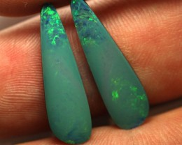 7.42 cts Australian Opal Doublet - Matched Pair (R2140)