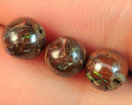 PARCEL OF SOLID BOULDER MATRIX OPAL ROUND BEADS 5mm