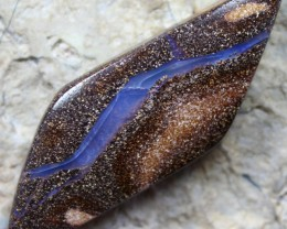 45.65 CTS BOULDER OPAL BLUE VEIN PATTERN STONE HIGH POLISH C2710