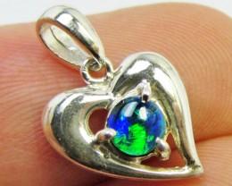 triplet Opal set in Silver Pendant   PL 827