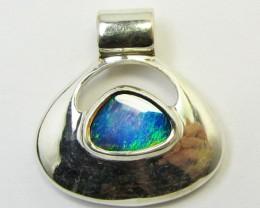 Large Doublet Opal set in Silver Pendant   PL 831