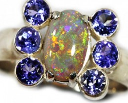 9 SIZE SOLID OPAL AND 6 TANZANITES -FACTORY DIREC [SOJ3148]