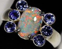 9.5 SIZE SOLID OPAL AND 6 TANZANITES -FACTORY DIREC[SOJ3150]