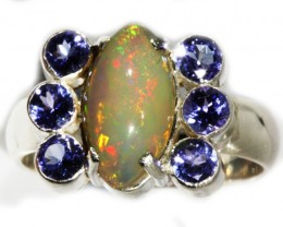 9 SIZE  STUNNING WELO OPAL WITH 6 TANZANITES FACTORY  [SOJ3151 ]