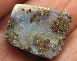 COLOURMINE OPALS>13.10.cts DRILLED LOVELY BOULDER OPAL