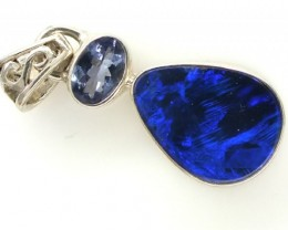 OPAL TANZANITE SILVER PENDANT 11.95  CTS OF-299