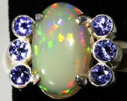 9 SIZE  STUNNING WELO OPAL WITH 6 TANZANITES [SOJ3152A ]