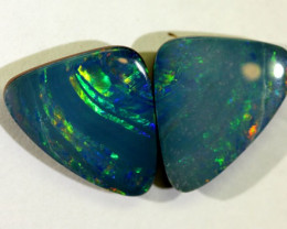 6.18 cts Australian Opal Doublet - Matched Pair (R2156)